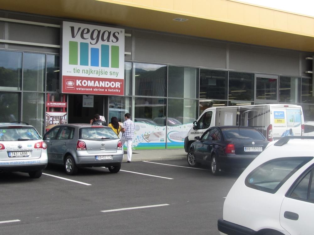 Predajňa VEGAS - Radvaň Park, Banská Bystrica (pri Kike)
